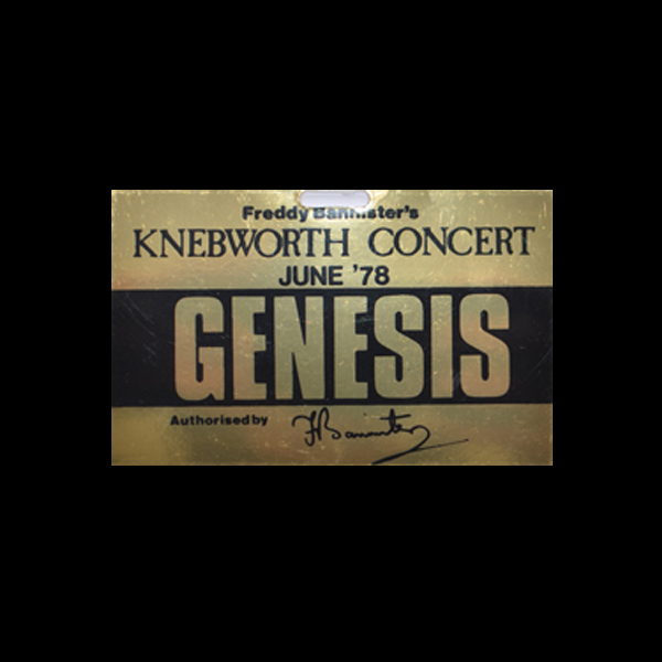 Original 1978 Genesis Gold Artist Pass ONLY 3 LEFT