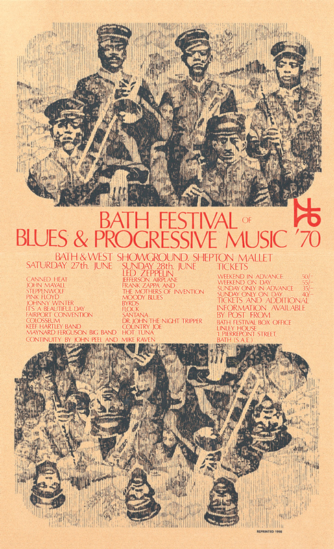 Limited edition signed, numbered and dedicated poster Bath 1970