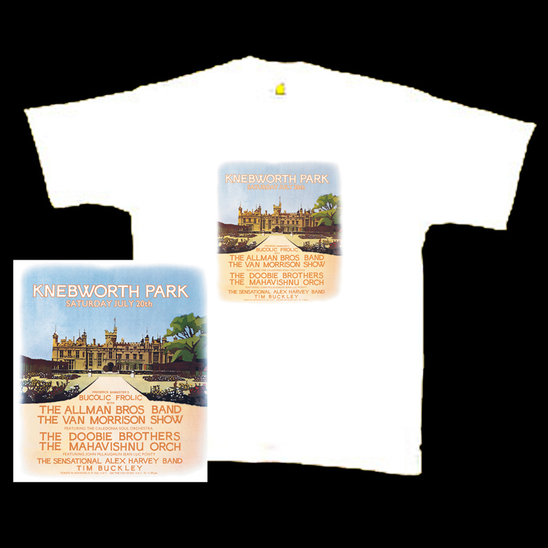 1974 Allman Bros Knebworth T shirt